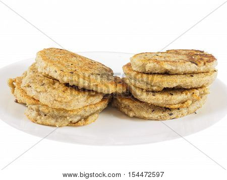 Gluten-free fermented buckwheatpancakes stacked on a plate