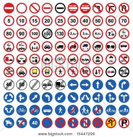 ícones de sinal de estrada