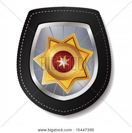 Polizei-Abzeichen-Vektor-illustration
