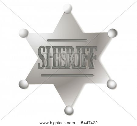 Vector sheriff's shield