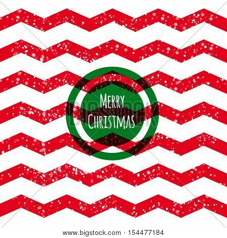 Glitter red Merry Christmas background. Zig zag.