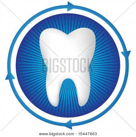 Vector tooth illustration