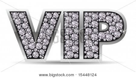 vip with diamonds. Vector