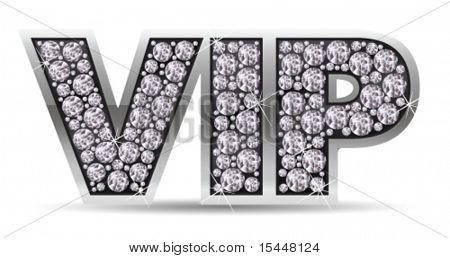 vip with diamonds. Vector