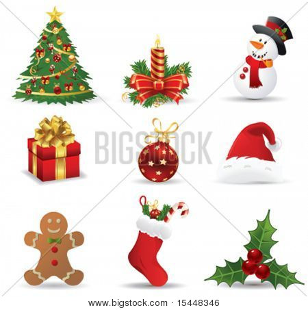 christmas icons. Vector