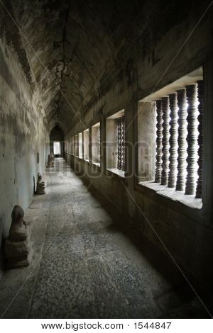 Corridor From Angkor Temples