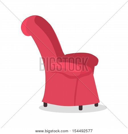 Dads favourite arm chair. Fathers place in the house. Piece of furniture. Role model, greatest mentor. Part of series of fathers day celebration banners. Honoring dads. Fatherhood concept. Vector