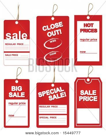 sales price tags