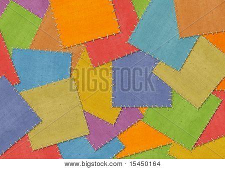 Fondo - cortes a medida de un tejido en patchwork de estilo