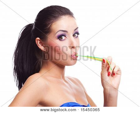Girl Eating A Candy