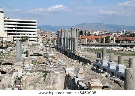 Ancient Agora In The City Of Izmir