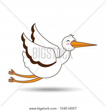 stork bird icon design graphic vector illustration eps 10