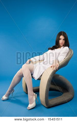 Nurse Sitting In A Chair