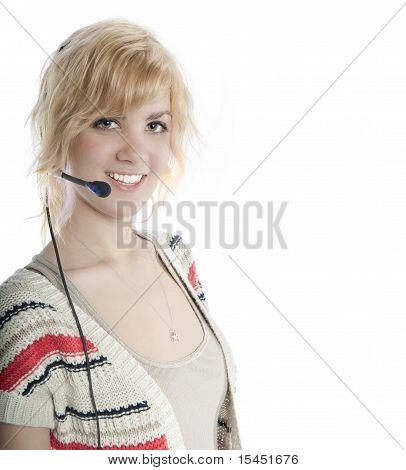 Attractive Blond Receptionist