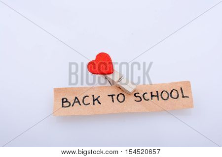 The  Title Back To School And A Heart Shape