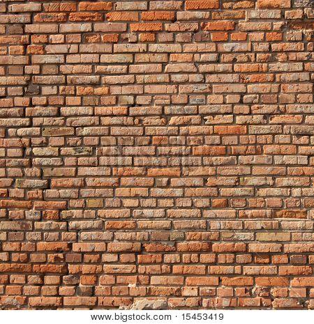 Textura de la vieja pared de ladrillo