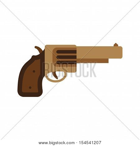 Revolver, gun, handgun icon vector image. Can also be used for wild west. Suitable for mobile apps, web apps and print media.