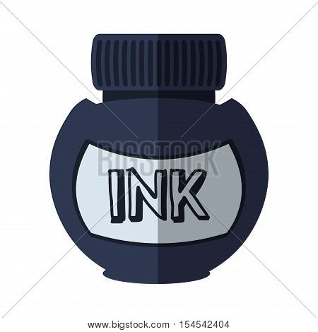 ink bottle isolated icon vector illustration design