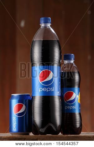 Kuala Lumpur, Malaysia 26th Oct 2016,Pepsi soft drink. Pepsi is a carbonated soft drink produced and manufactured by PepsiCo Inc. an American multinational food and beverage company.