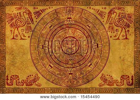 Maya-Kalender auf alten Pergament