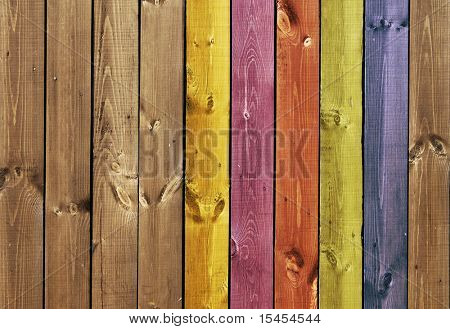 Texture - colored old wooden boards