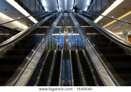 Escalators In Airport
