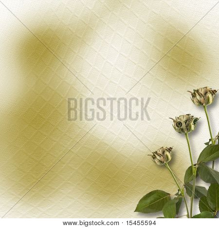 Growing Roses On The Abstract Background. Conceptual Image.