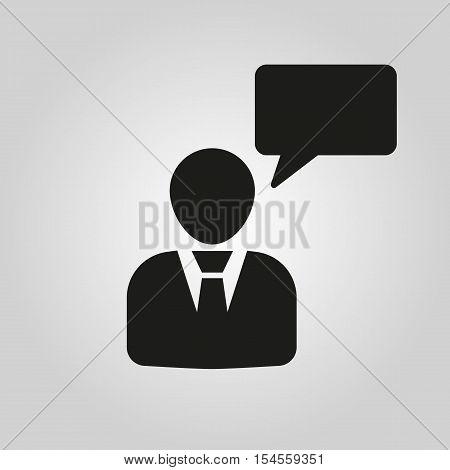 The speaking people icon. Talking and communication, message, speak symbol. UI. Web. Logo. Sign. Flat design. App. Stock vector