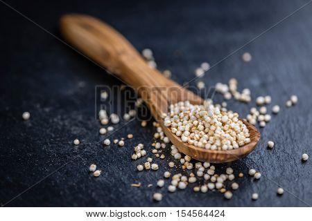 Pile Of Puffed Quinoa (selective Focus)