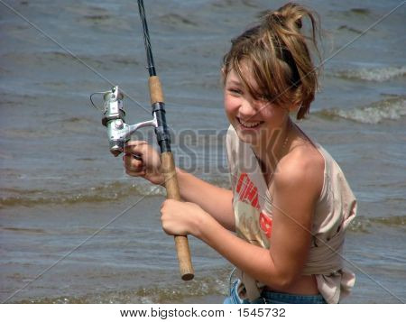 Girl On Fishing
