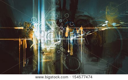 abstract digital painting creative technologies composed, illustration art