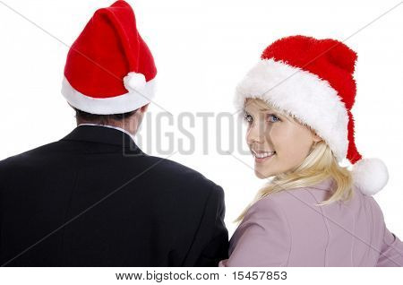 business women man going to celebrate New Year