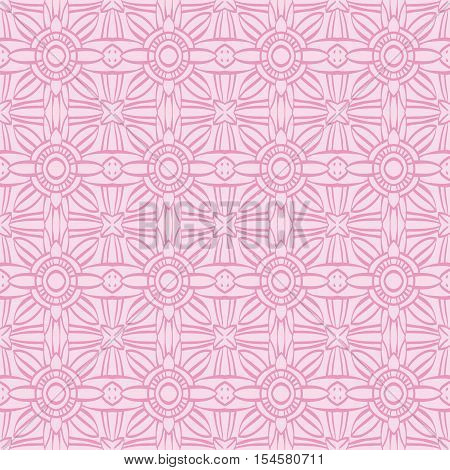 Pink background with seamless pattern. Ideal for printing onto fabric and paper or scrap booking.