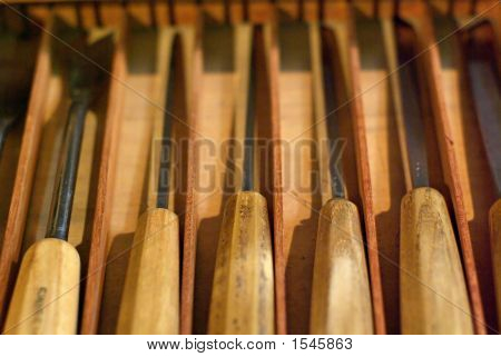 Carperter'S Tools: Woodcarving Chisels