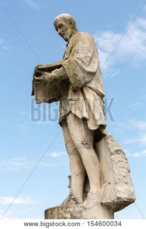 PADUA, ITALY - MAY3, 2016: Statue on Piazza of Prato della Valle Padova Italy.