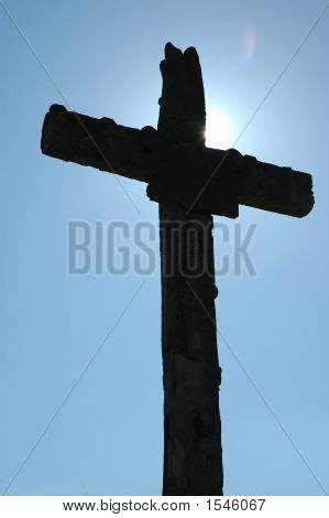Roadside Crucifix In France