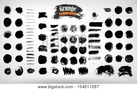 Vector set grunge painted elements. Vector grunge background. Grunge banner. Grunge texture. EPS 10.