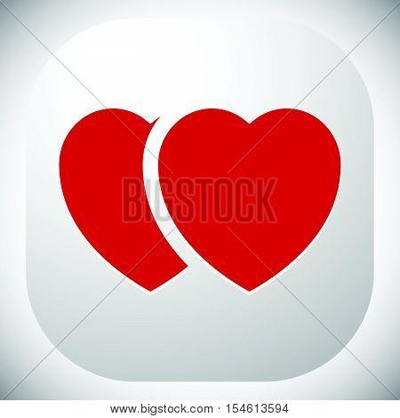 Stock Illustration With Heart Motif, Heart Shape