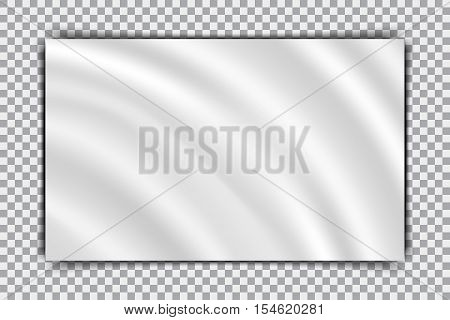 Waving mockup blank canvas on a transparent background
