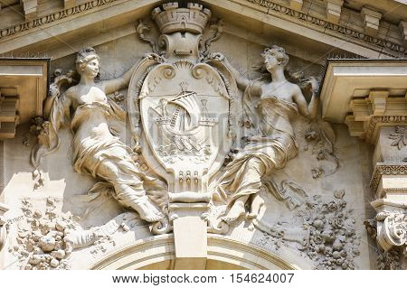 PARIS FRANCE - APRIL 24 2015: Commodities Exchange (Bourse de commerce 1782) is a building in Paris now used to provide services to businesses by Paris Chamber of Commerce.