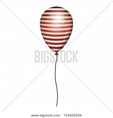globe striped white and red with cord vector illustration