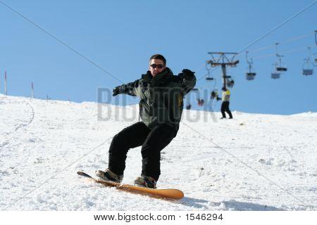 Snowboarder On Snow