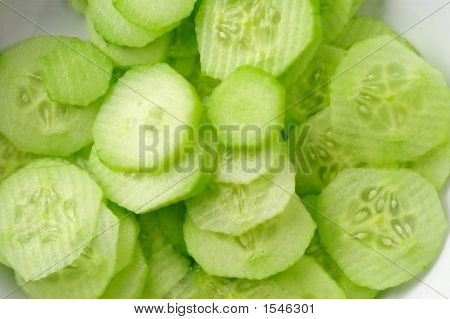 Sliced Cucumbers Background
