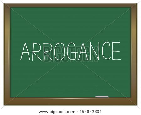 Arrogance Word Concept.