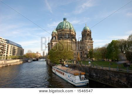 Berlin Cathedral And The River Spree