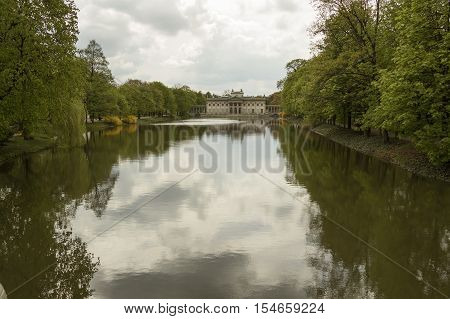 Lazienki Palace (also called Palace on the Water) Warsaw Poland