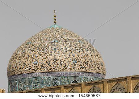 Sheikh Lotfollah Mosque At Naqhsh-e Jahan Square In Isfahan, Iran