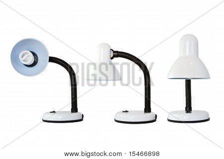 Lámpara de escritorio sobre fondo blanco