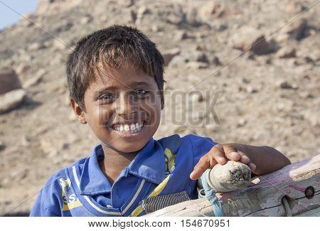 Yemeni Boy In Socotra