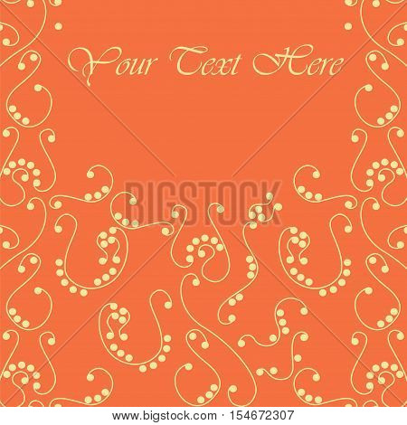 Floral frame with place for your text. Vector stock illustration with elegant symbolic flower for identity business cards and packaging - floral shops beauty and spa studios